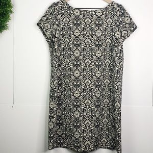 Zara | short sleeve tapestry shift dress